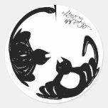 Cat LOVE Classic Round Sticker