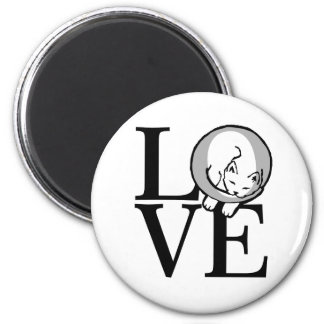 Cat Love Click to Customize Background Color 2 Inch Round Magnet
