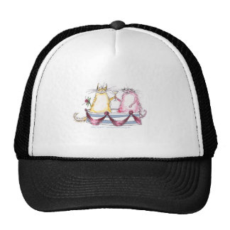 cat love - funny cartoon, tony fernandes trucker hat