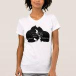 Cat love Heart Wedding name date t-shirt