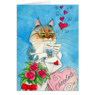 Cat Love Letter Card