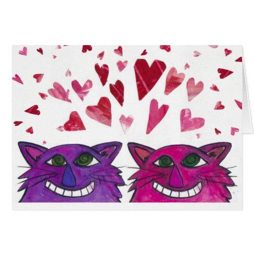 Cat Love- Smitten Kittens -Purrrfect! Card