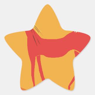 Cat love star stickers