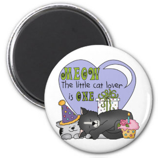 Cat Lover 1st Birthday T-shirts and Gifts 2 Inch Round Magnet