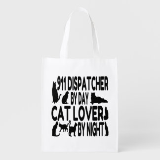 Cat Lover 911 Dispatcher Grocery Bags