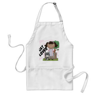 Cat Lover African American Girl Tshirts and Gifts Apron
