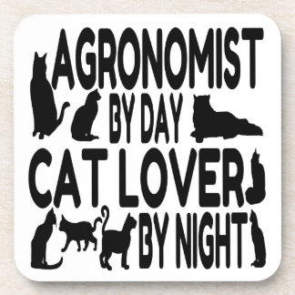 Cat Lover Agronomist Beverage Coaster