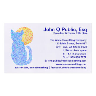 Cat Lover Animal Lover Pet Business Cards