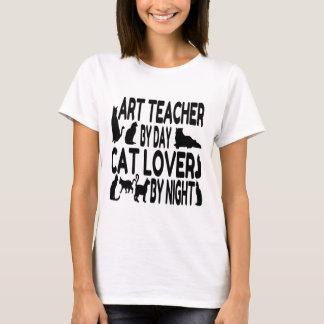 Cat Lover Art Teacher T-Shirt