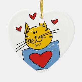 Cat Lover Artwork Ceramic Ornament