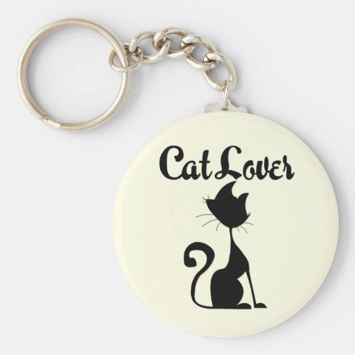 Cat Lover Basic Round Button Keychain