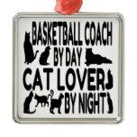 Cat Lover Basketball Coach Christmas Tree Ornament