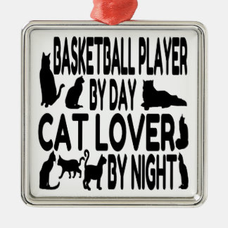 Cat Lover Basketball Player Christmas Tree Ornament