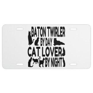 Cat Lover Baton Twirler License Plate