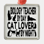 Cat Lover Biology Teacher Christmas Tree Ornaments