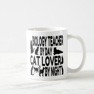 Cat Lover Biology Teacher Coffee Mug