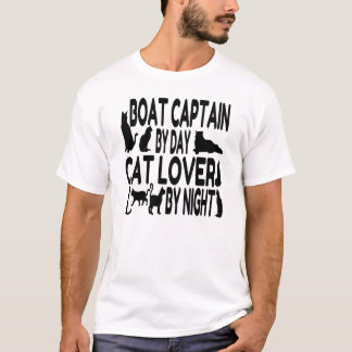Cat Lover Boat Captain T-Shirt