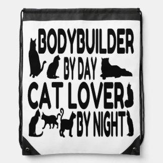 Cat Lover Bodybuilder Drawstring Bag
