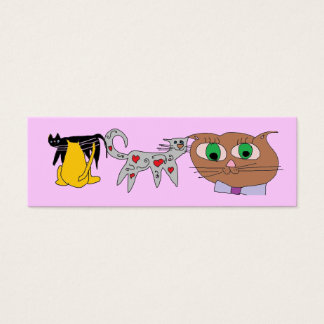 cat lover bookmarks mini business card