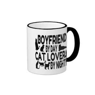 Cat Lover Boyfriend Ringer Mug