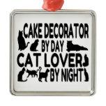 Cat Lover Cake Decorator Christmas Ornament