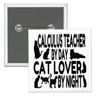Cat Lover Calculus Teacher Buttons