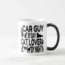 Cat Lover Car Guy Magic Mug