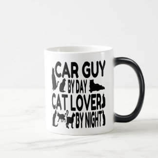 Cat Lover Car Guy Magic Mug