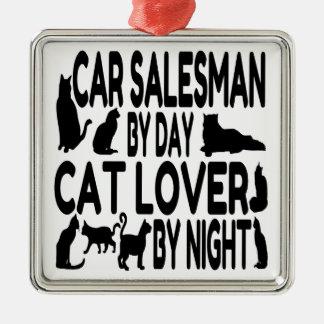 Cat Lover Car Salesman Christmas Tree Ornaments
