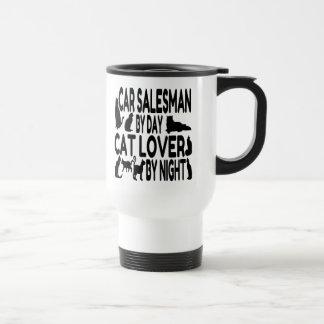 Cat Lover Car Salesman Travel Mug