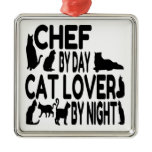 Cat Lover Chef Christmas Tree Ornaments