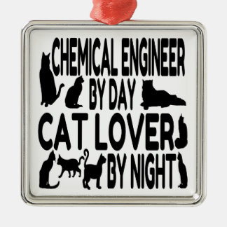 Cat Lover Chemical Engineer Metal Ornament
