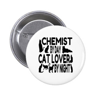 Cat Lover Chemist Pinback Buttons
