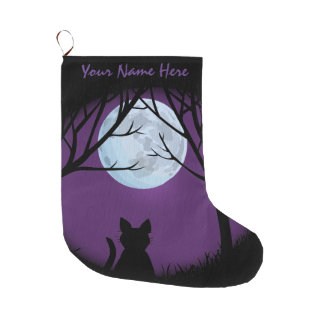 Cat Lover Christmas Stocking Customized Stocking Large Christmas Stocking
