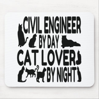 Cat Lover Civil Engineer Mouse Pad