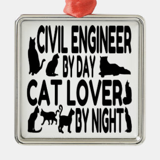 Cat Lover Civil Engineer Ornament