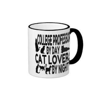 Cat Lover College Professor Ringer Mug