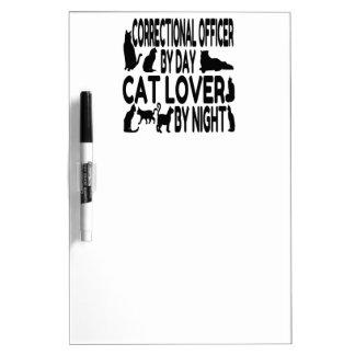 Cat Lover Correctional Officer Dry Erase Board