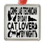Cat Lover Crime Lab Technician Christmas Tree Ornaments