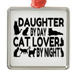 Cat Lover Daughter Square Metal Christmas Ornament