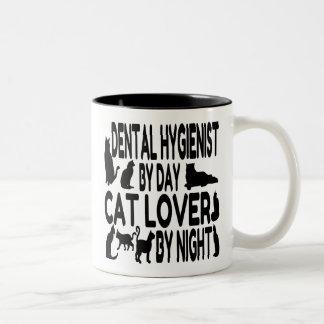 Cat Lover Dental Hygienist Two-Tone Coffee Mug