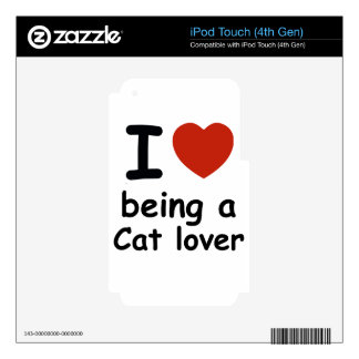 cat lover design decals for iPod touch 4G
