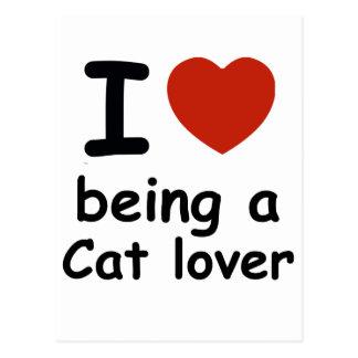 cat lover design postcard
