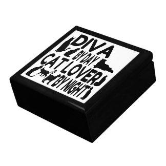Cat Lover Diva Trinket Boxes