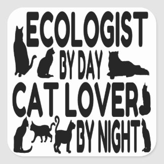 Cat Lover Ecologist Square Sticker