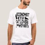 Cat Lover Economist T-Shirt