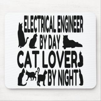 Cat Lover Electrical Engineer Mouse Pad