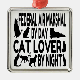 Cat Lover Federal Air Marshal Metal Ornament