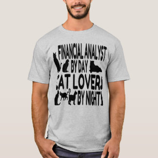 Cat Lover Financial Analyst T-Shirt
