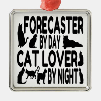 Cat Lover Forecaster Metal Ornament